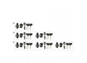 KSL103 - Kappa 3 Kit de clés Sécurité complet avec bagues loquet pour 3 valises