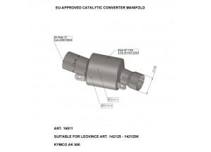 16011 - Collecteur Echappement LeoVince Catalytique  Kymco AK 550 (17-18)
