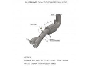 16016 - Collecteur Echappement LeoVince catalysé YAMAHA MT-09 / XSR 900 / FZ-09