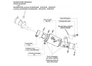8074 - Kit Collecteur d'échappement LeoVince elimina kat Inox