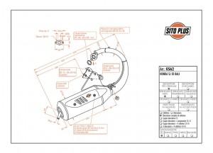 0562 - Silencieux Leovince Sito 2 Temps Honda SJ 50 BALI
