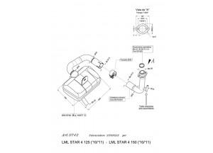 0742 - Echappement Leovince Sito 4T LML STAR 4 125 / STAR 4 150