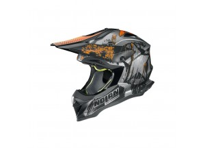 Casque Intégral Off-Road Nolan N53 Cliffhanger 27 Scratched Chrome