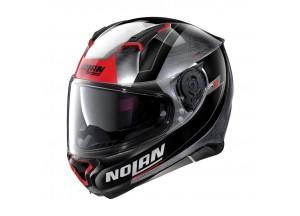 Casque Intégral Nolan N87 Skilled N-COM 100 Chrome Rayé