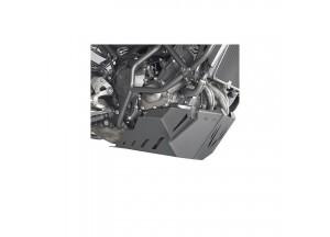RP2122 - Givi Sabot moteur spécifique en aluminium satiné et anodisé noir YAMAHA
