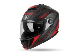 Casque Intégral Ouvrable Airoh Phantom S Triplo Rouge Mat