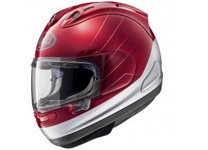 Casque Intégrale Arai Rx-7 V Honda CB Rouge Argent