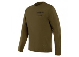 T-Shirt Adventure LS Dainese Military-Olive/Noir
