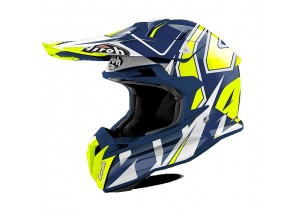 Casque Intégral Off-Road Airoh Terminator Open Vision Shock Bleu Brillant