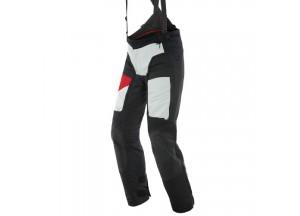 Pantalon Moto Homme Dainese Gore-Tex D-Explorer 2 Noir Gris Rouge-Lava