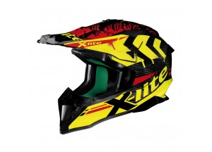 Casque Intégral Off-Road X-lite X-502 Ultra Carbon Nac Nac 4 Carbon Yellow