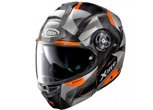 Casque Intégral Ouvrable X-Lite X-1004 Ultra Carbon Dedalon 20 Noir Orange