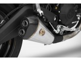 ZD787SSR - Silenciador Escape Zard LOW MOUNTED Inox Ducati Monster 797 (17-19)