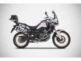 ZHND367SKR-FC - Escape Zard Inox Fondo Carbono Honda Africa Twin (16-19)
