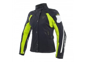 Chaqueta Dainese D-Dry impermeable Rain Master Lady Negro/Glacier-Gris/Rojo