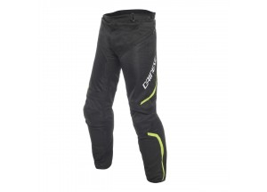 Pantalones Dainese Drake Air D-Dry Negro/Negro/Amarillo-Fluo