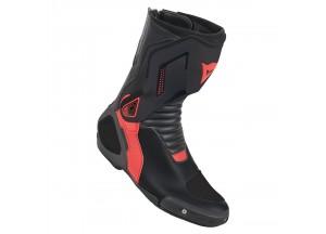 Botas de cuero Dainese Racing Nexus Dainese Negro/Fluo-Rojo