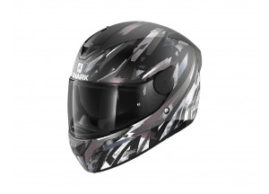 Casco Integral Shark D-SKWAL 2 Kanhji Negro Blanco Antracita