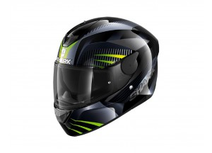 Casco Integral Shark D-SKWAL 2 Mercurium Negro Antracita Verde