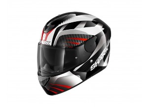 Casco Integral Shark D-SKWAL 2 Mercurium Negro Blanco Rojo