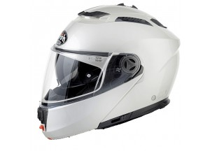 Casco Integral Abierto Airoh Phantom S Color Blanco Brillante