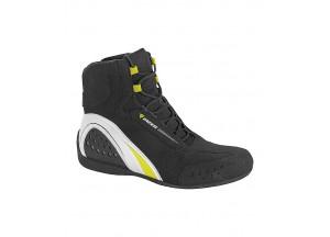 Botas  Dainese  Motorshoe D-Wp Impermeable Negro/Blanco/Amarillo-Fluo