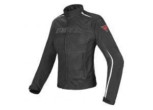 Chaqueta Dainese D-Dry impermeable Hydra Flux Lady Perforado Negro/Blanco