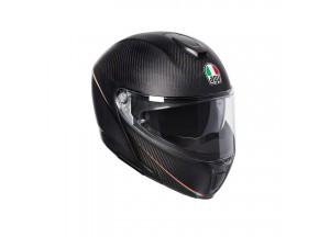 Casco Integral Abierto Agv Sportmodular Tricolore Carbon Mate