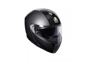 Casco Integral Abierto Agv Sportmodular Carbon Gris Oscuro