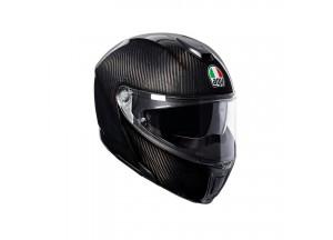 Casco Integral Abierto Agv Sportmodular Carbon Brillante