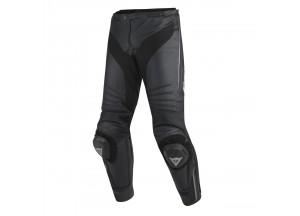 Pantalones Dainese Racing Misano De Piel Negro/Anthracite