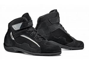Zapatos De Cuero Moto Touring Sidi Duna Negro Negro