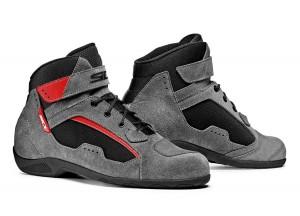 Zapatos De Cuero Moto Touring Sidi Duna Negro Gris Rojo