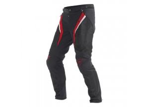 Pantalones Dainese Drake Super Air Tex Negro Rojo Blanco