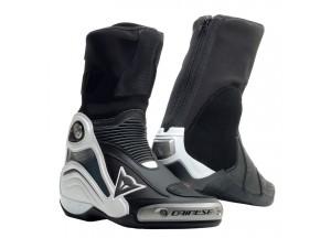 Botas de Cuero Dainese Racing Axial D1 Negro Blanco