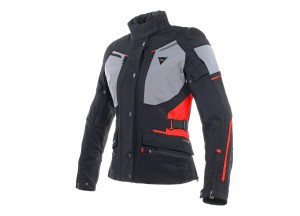 Chaqueta Dainese Carve Master 2 Lady Gore-Tex Negro/Frost-Gris/Rojo