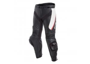 Pantalones Dainese Racing Delta 3 De Piel Negro/Blanco/Rojo