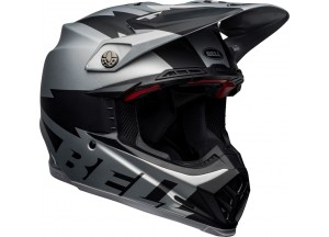 Casco Bell Off-Road Motocross Moto-9 Carbon Flex Breakaway Negro Gris Mate