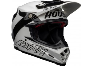 Casco Bell Off-Road Motocross Moto-9 Carbon Flex Fasthouse Newhall Negro Blanco