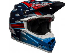 Casco Bell Off-Road Motocross Moto-9 Carbon Flex Mcgrath Replica Azul Rojo Negro
