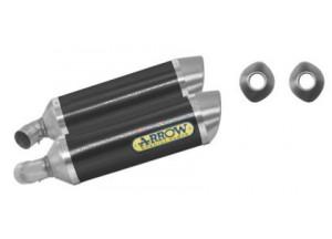 71131MO - SILENCIADORES ESCAPE ARROW CARBONO INOX DUCATI MONSTER 696/796/1100