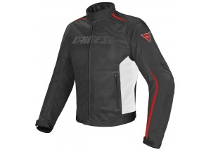Chaqueta Dainese D-Dry impermeable Hydra Flux Perforado Negro/Blanco/Rojo