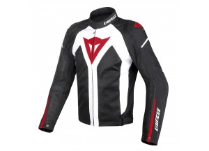 Chaqueta Dainese D-Dry impermeable Hyper Flux Perforado Blanco/Negro/Rojo