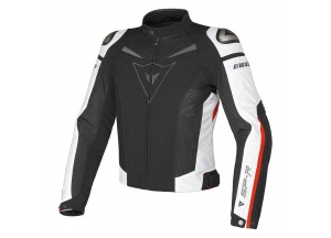 Chaqueta Dainese Super Speed Tex Negro/Blanco/Rojo