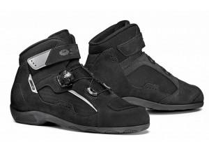 Zapatos De Cuero Moto Touring Sidi Duna Special Negro Negro