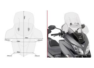 AF3115 - Givi Cúpula transparente extensible AIRFLOW Suzuki Burgman 400 17>18
