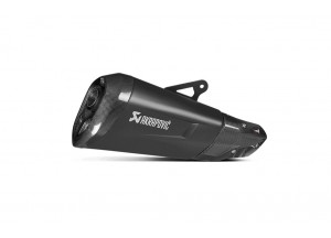 S-B10SO4-HZDFT - Silenciador Akrapovic Slip-on Aprobado Titan Negro BMW S1000XR