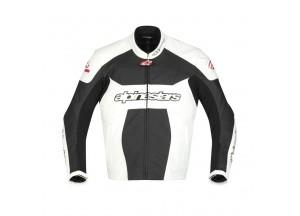 Chaqueta de cuero Alpinestars GP Plus Negro/Blanco