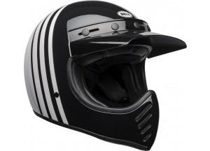Casco Bell Off-Road Motocross Moto-3 Reverb Blanco Negro