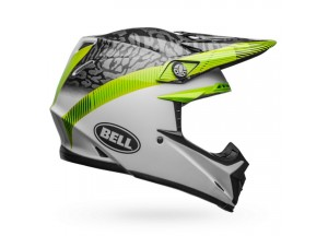 Casco Bell Off-Road Motocross Moto-9 Mips Chief Negro Blanco Verde